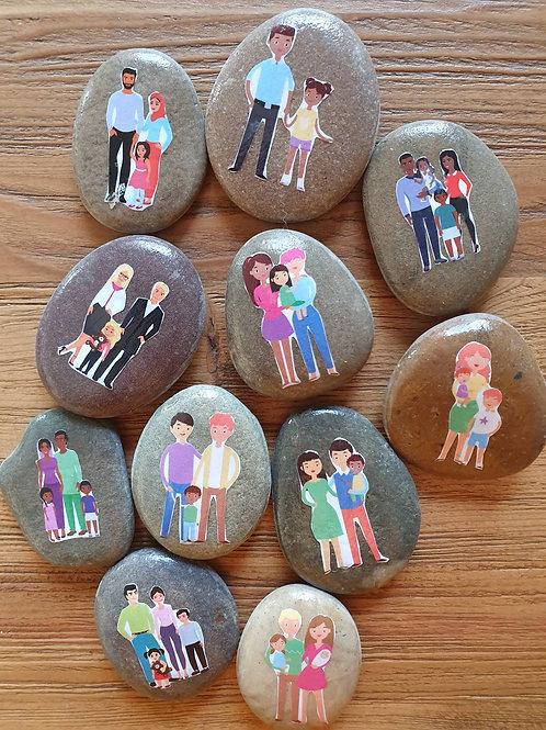 Story Stones - Families (11pc)