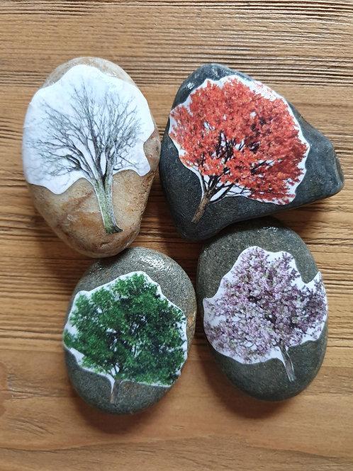 Story Stones - Seasonal Trees (4pc)
