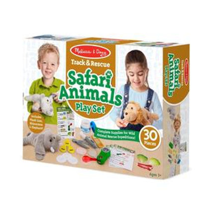 Track and Rescue Safari Animals Play Set