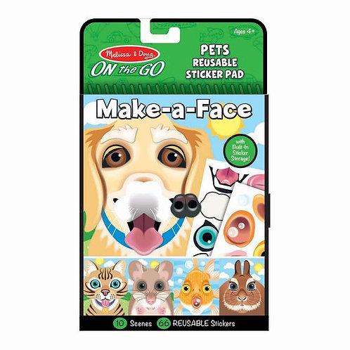 Reusable Sticker Pad - Make a Face - Pets