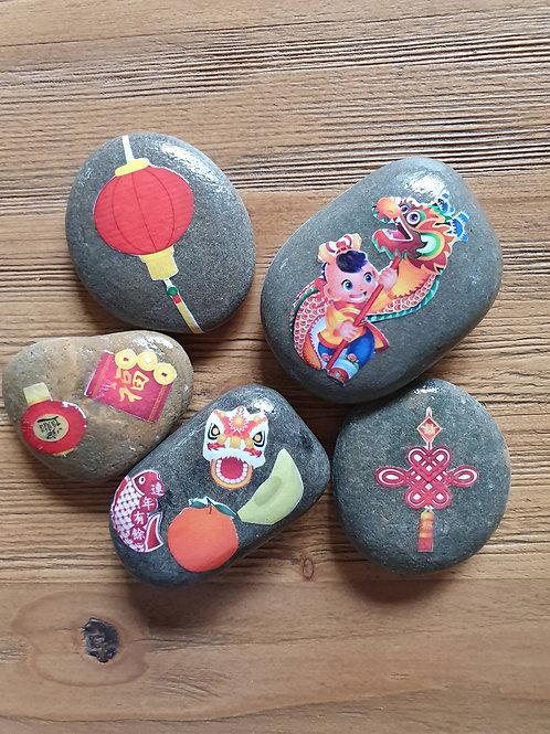 Story Stones - Chinese New Year (5pc)