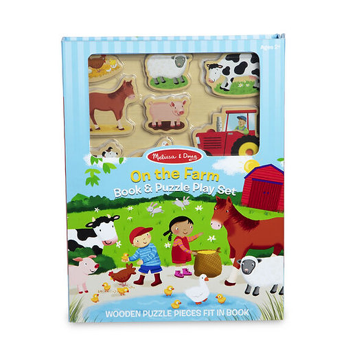 Book and Puzzle Play Set - On the Farm