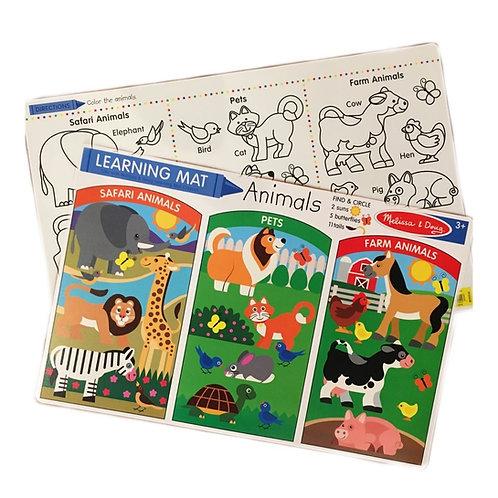 Animal Learning Mat (Bundle of 6)