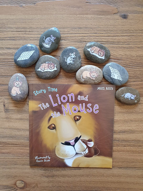 Story Stone Gift Set - The Lion and the Mouse