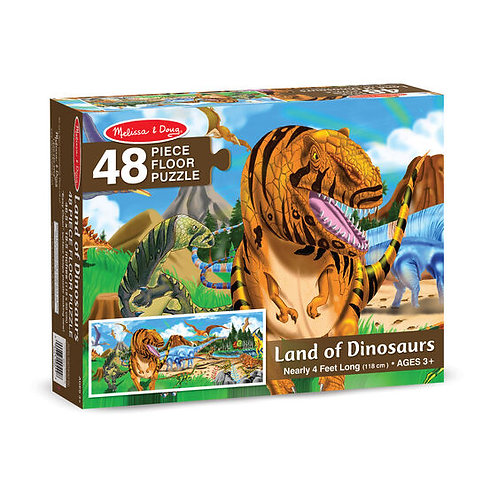Floor Puzzle - Land of Dinosaurs (48pc)
