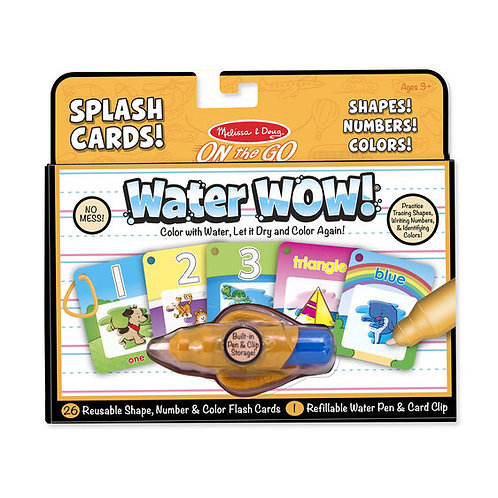 Water Wow Splash Cards - Numbers and Colours