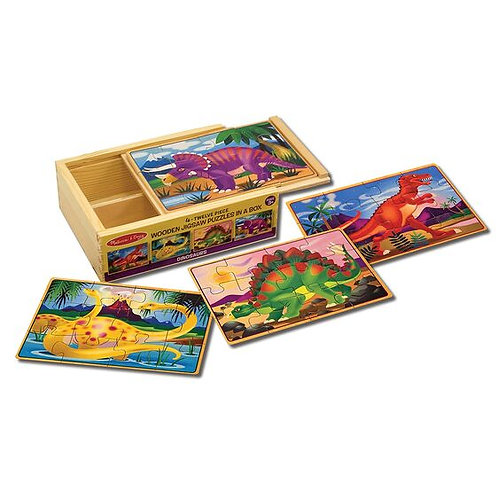 Dinosaur Puzzles in a Box