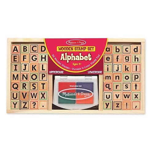 Wooden Stamp Set - Alphabet