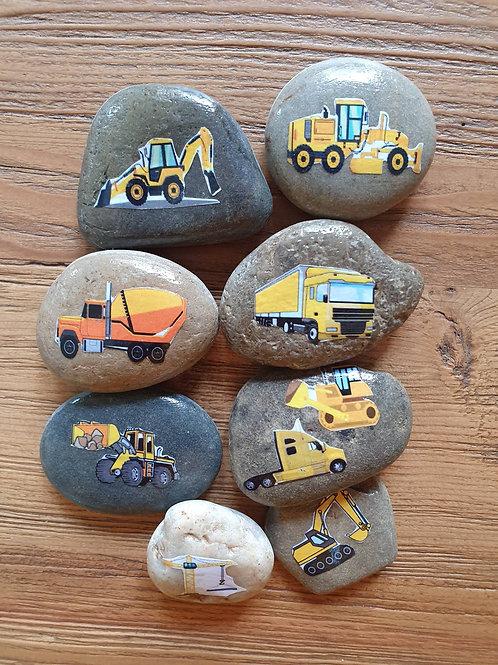 Story Stones - Transport: Construction (8pc)