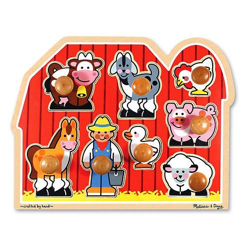 Large Farm Jumbo Knob Puzzle (8 pc)