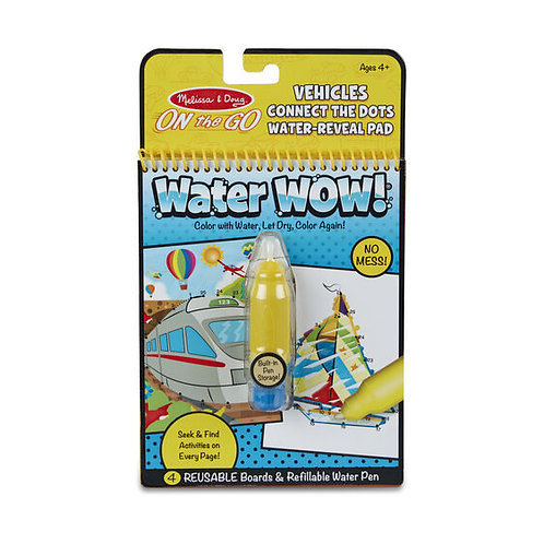 Water Wow Connect the Dots - Vehicles