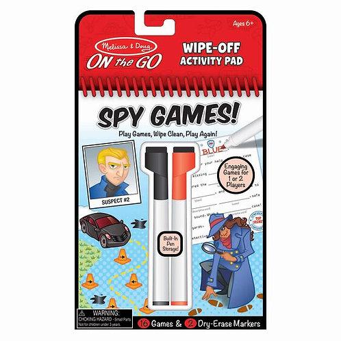 Wipe-Off Activity Pad - Spy