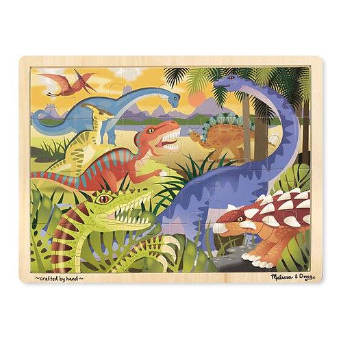 Dinosaur Wooden Jigsaw Puzzle (24pc)