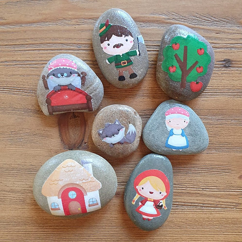 Story Stones - Little Red Riding Hood  (7pc)