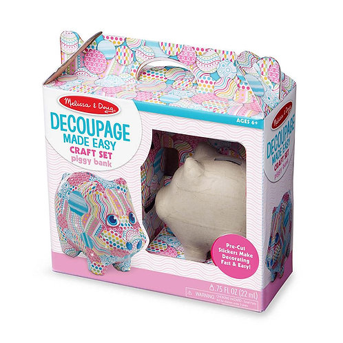 Decoupage - Piggy Bank