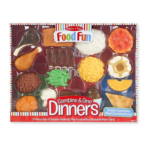 Combine and Dine Dinners - Red (Plastic)