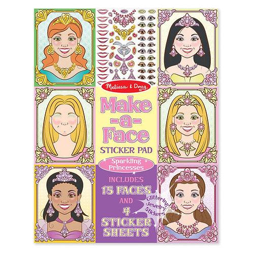 Sticker Pad - Make-a-Face - Sparkling Princess