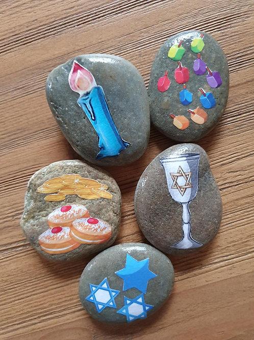 Story Stones - Hanukkah (5pc)