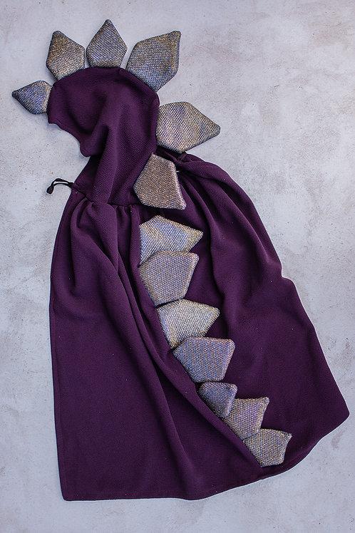 Dino Cape - Purple and Gold