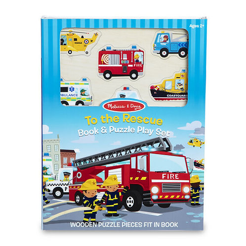 Book and Puzzle Play Set - to the Rescue