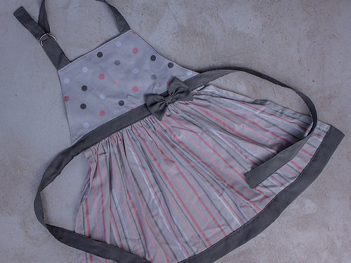 Apron - Grey and Pink