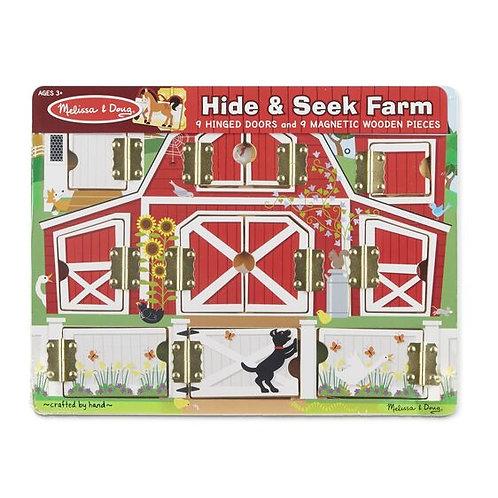 Magnetic Hide and Seek Board - Farm