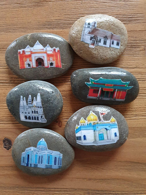Story Stones - Places of worship (6pc)
