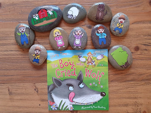 Story Stone Gift Set - The Boy Who Cried Wolf
