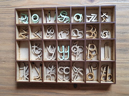 Moveable Alphabet - Ball and Stick font