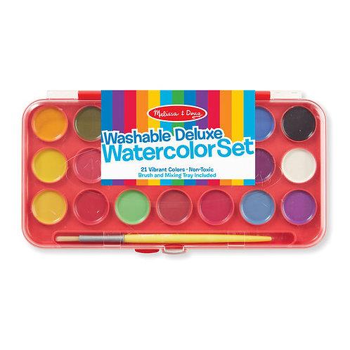 Deluxe Watercolor Paint Set (21pc)