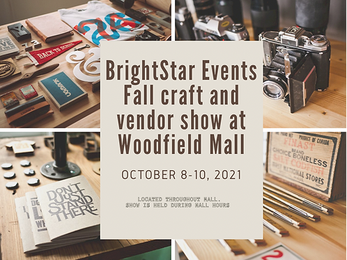 Annual Fall Artisan Show Woodfield Mall
