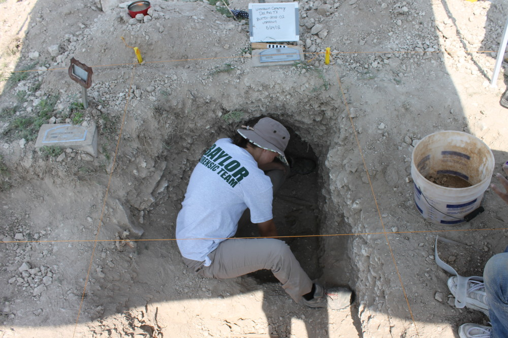 Exhumation of an infant in Del Rio