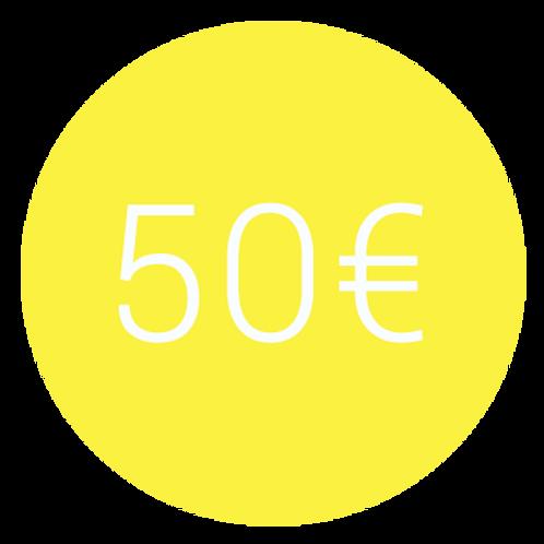 ADHÉSION 50€