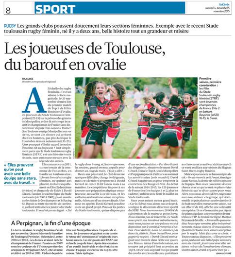Journal La Croix 2015