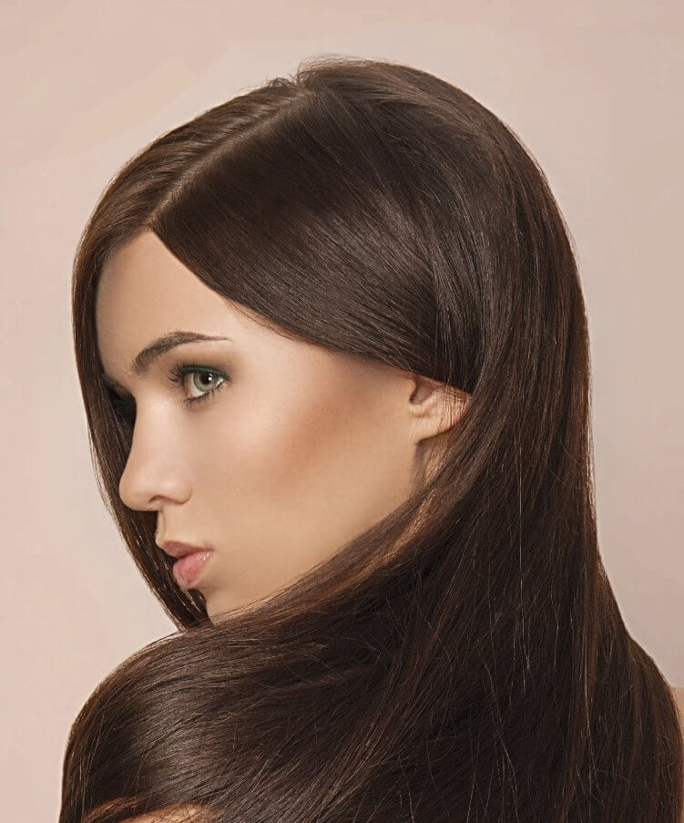 brunette straight hair
