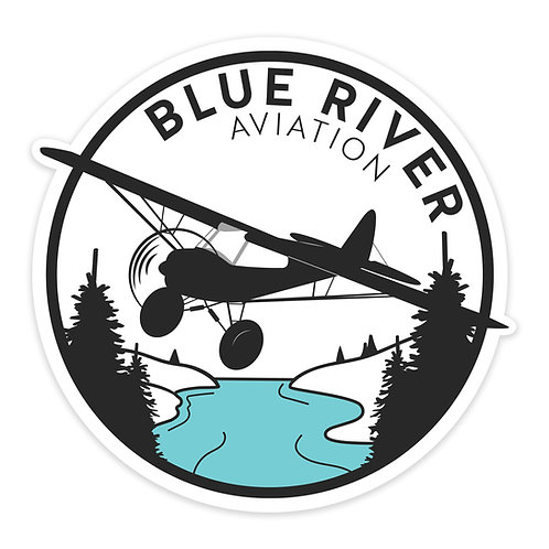 Blue River Logo Sticker