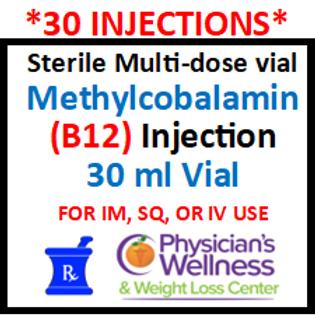 B-12 Injections 30ml. Vial (Methylcobalamin)