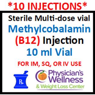 B-12 Injections 10ml. Vial (Methylcobalamin)