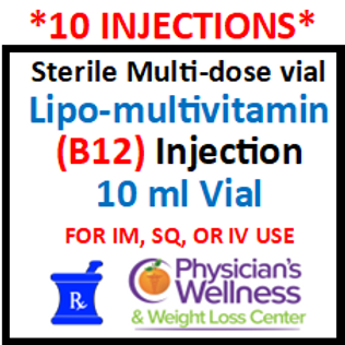 B-12 Injections 10ml. Vial (Methylcobalamin) With Lipotropics & B Complex
