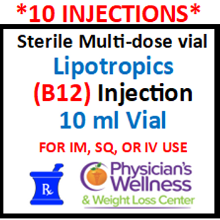 B-12 Injections 10ml. Vial (Methylcobalamin) With Lipotropics