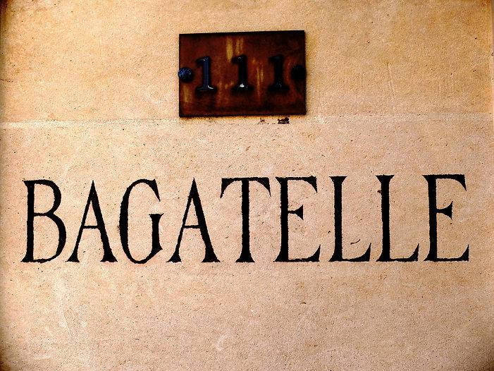 Samuel Arthur, artiste, Mes propriétés, Bagatelle