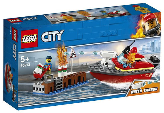 Lego Brand aan de kade