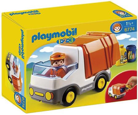 Verjaardagsbox Playmobil Vuilniswagen