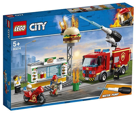 Verjaardagsbox Lego Brand bij het hamburgerrestaurant