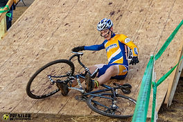 First lap mishap on the Green Acres CX flyover. PrenzlowPhotography.com