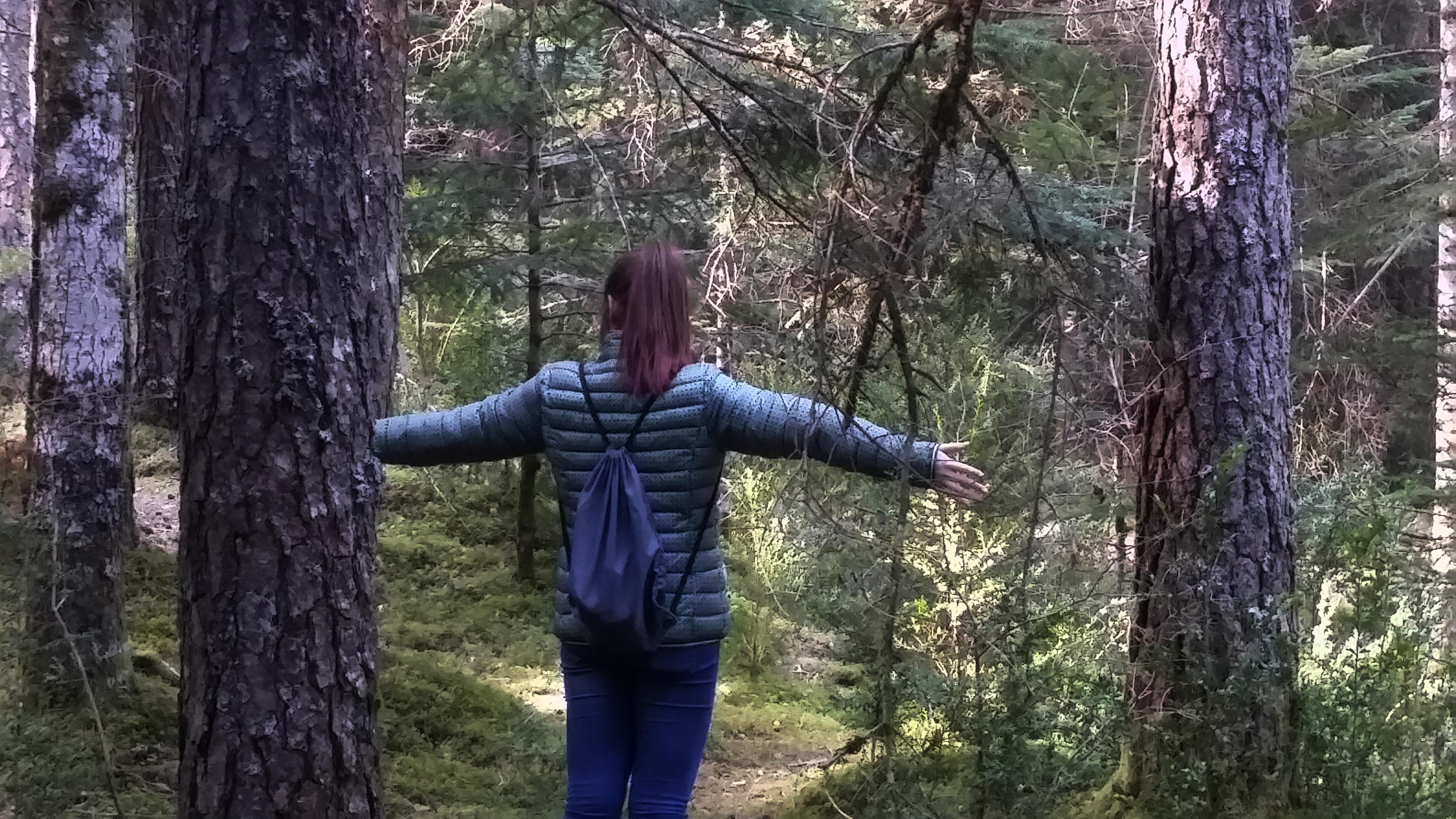 Respirando en el bosque