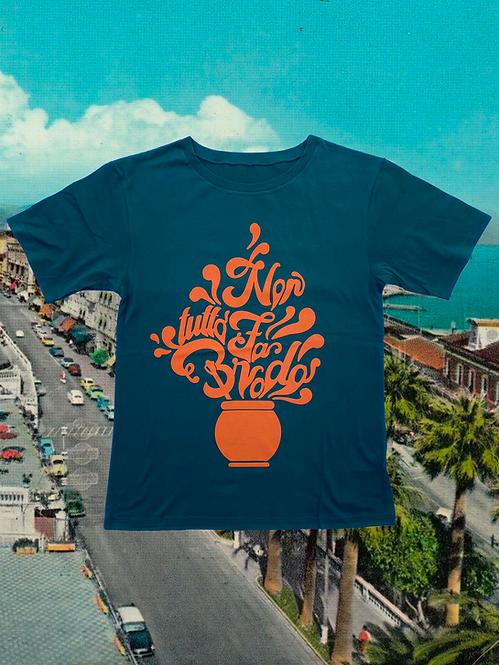 T-shirt NON TUTTO FA BRODO green + arancione