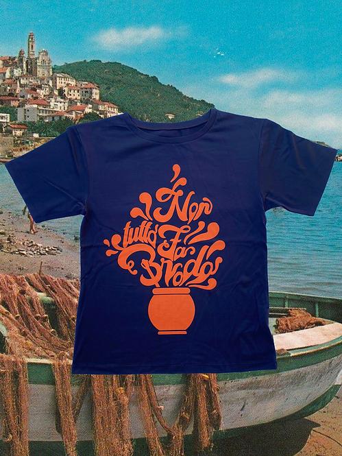 T-shirt NON TUTTO FA BRODO violet + arancione