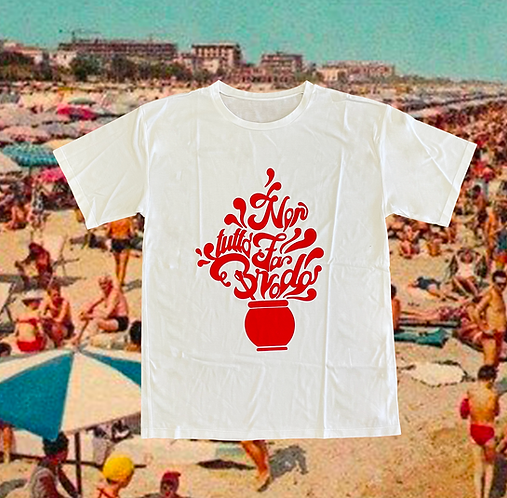 T-shirt NON TUTTO FA BRODO white + rosso