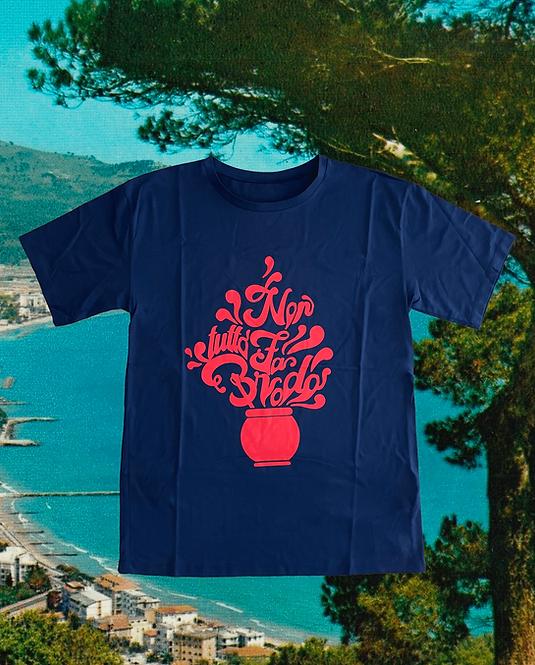 T-shirt NON TUTTO FA BRODO blue + rosso